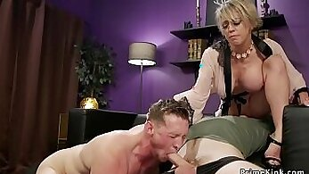Busty submissive milf fucked by husband