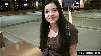 Brunette Teen Sucks Dick In Public
