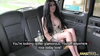 Cock asian girl eating penis for cash in taxi