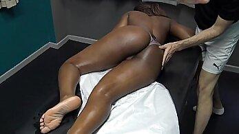 Big Belly, Long Hair Black GILF Hindu Wife Made Massage