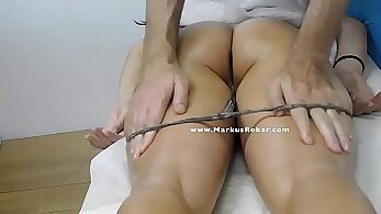 Cherie Gets Her Masturbation Roleplay On Public Massage Table