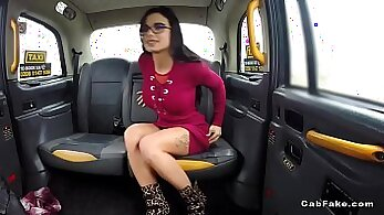Assfucked babe pounded in the taxi