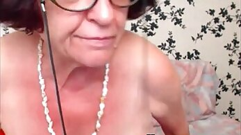 Fat granny masturbating in web camera