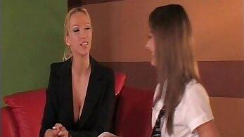 Aria Kate and Martha Todd enjoying hot lesbian love