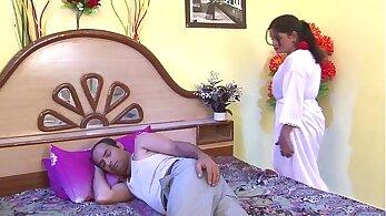 bedroom partner present with aunt