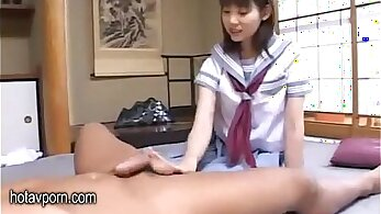 Calf Daddy Jerry Gets Her Curvy Japanese Gros Pants Fucked in Tease