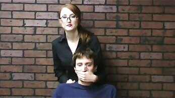 Clothed Pros Tied in Handjob Lunch Break
