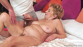Granny Teases Big Cock in Mouth Now!