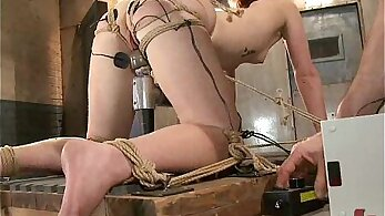 Bubble assed BDSM redhead toyed hardcore