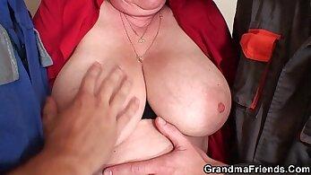 Granny Ann Gets Double Penetration!
