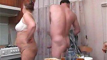 Russian stepmom sucking stepdaughter