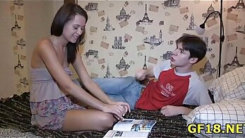 Agreeable teen gives her BF some nice romp