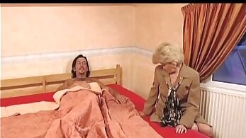 Slutty granny gets licked by big cock in hotel
