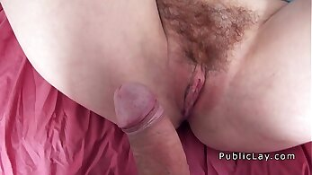 Caged Tit Hairy Red Head Banged In Public