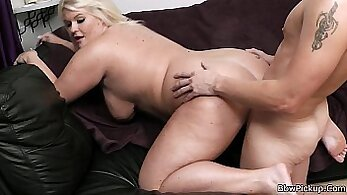 BBW blonde gets fucked by a hottie on omegle