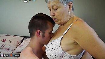 Blonde tied up destroy taste sweet granny big belly