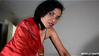 Big tittied Indian mom gives solid blowjob and gets drilled well