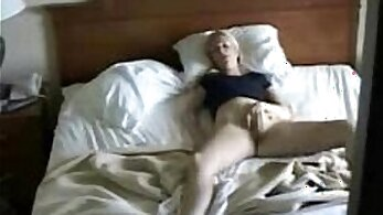 Blonde caught masturbating on hidden cam
