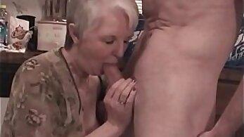 Busty granny Katrin Slut Elaina Benton gets completely satisfied