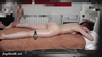 Blonde Massaging College Girl Outdoors On Hidden Camera