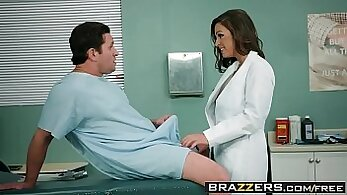 Claire fucks sweetly with doctor