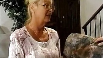 busty chick pounds his granny while her catpack is riding him
