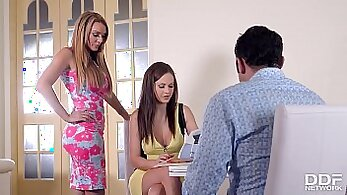 Amateur swinger couple have a shoot in a vintage steamy three part