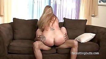 Chubby blonde milf banged with big black cock