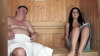 Almost caught by Grandpa and wearing her panties! do dumpin